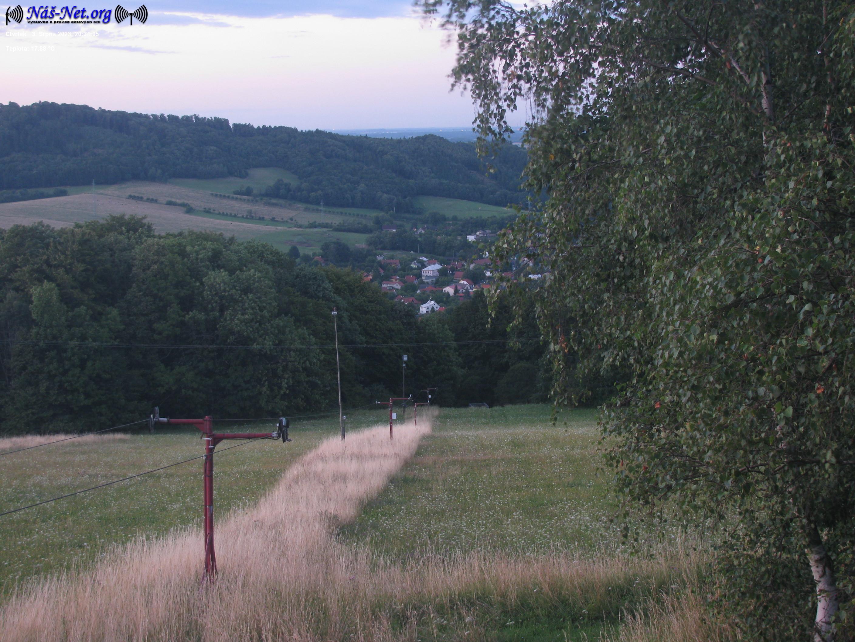 Webkamera: Pohled z Kocmínku na obec Rybí